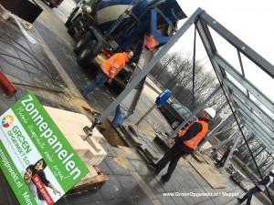 Zonnepanelen rijwielstalling Venlo