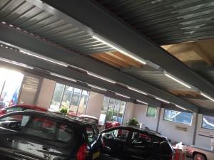 Autobedrijf Jonkers en Dolfsma in Ruinerwold voorzien van ledverlichting door GroenOpgewekt 5.0 Meppel