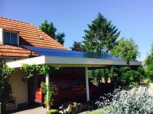 Plat dakopstelling zonnepanelen in Boijl Friesland Zonnepanelen Friesland Steenwijk Zonnestroom Meppel Zwolle Assen Zuidwolde