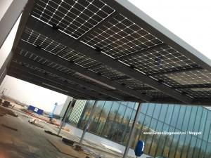 Zonnerijwielstalling in Venlo met Solarwatt Glas-Glas zonnepanelen Steenwijk Meppel Zwolle Hoogeveen Assen Kampen en Heerenveen